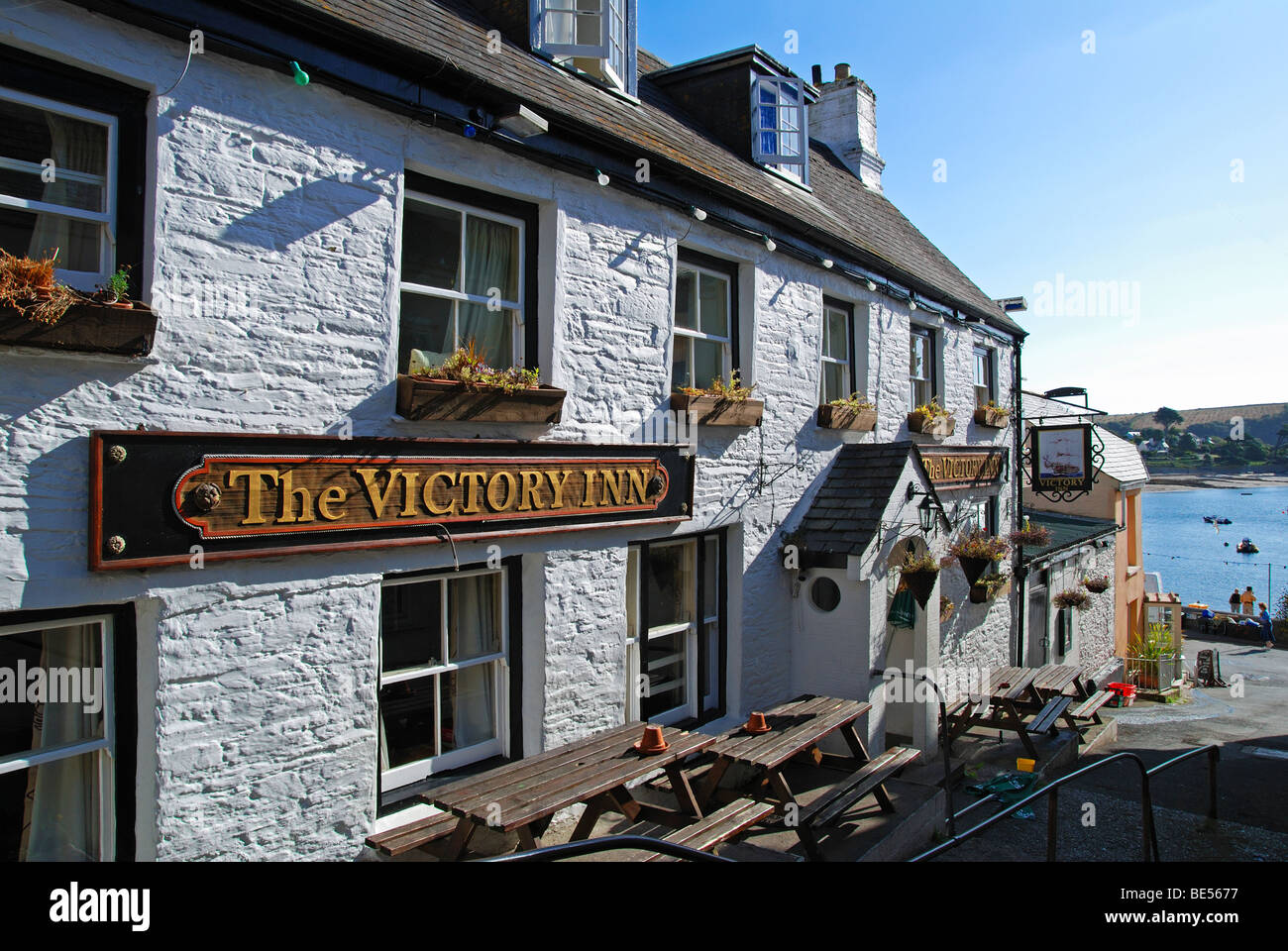 the victory inn at st.mawes in cornwall, uk - Stock Image