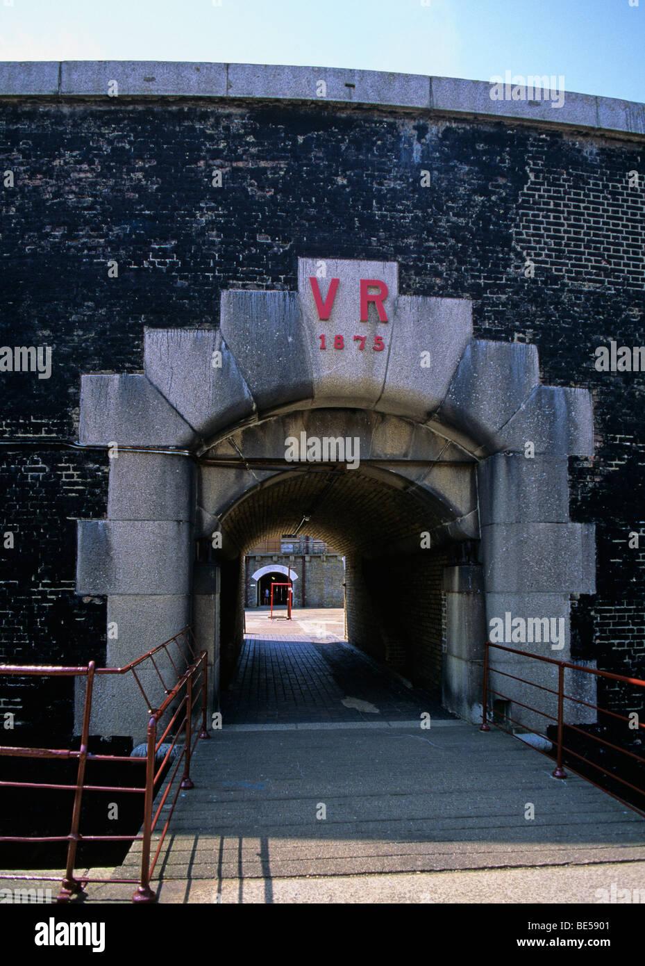 Entrance to Landguard Fort Felixstowe - Stock Image