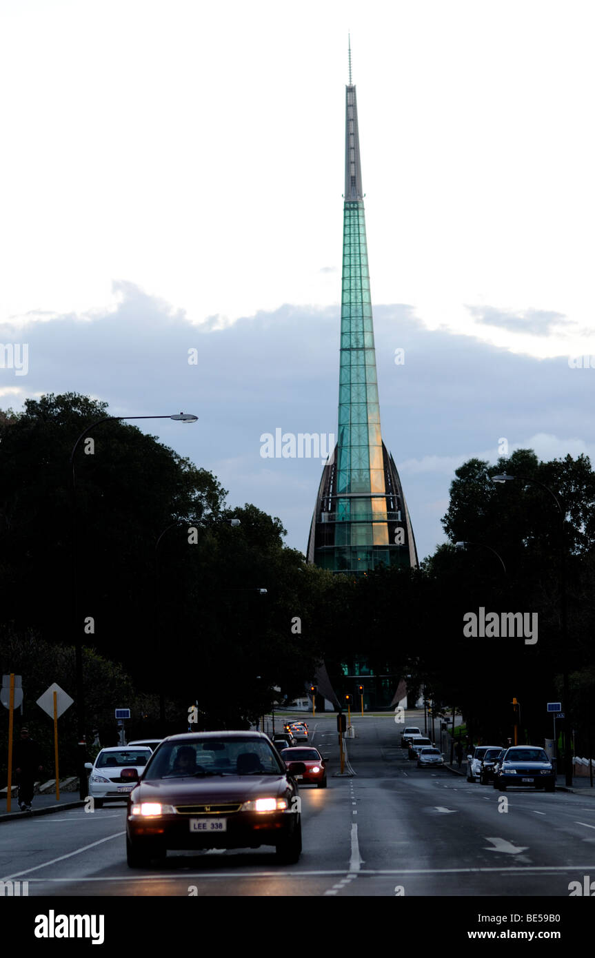the bell tower and barrack street perth western australia - Stock Image