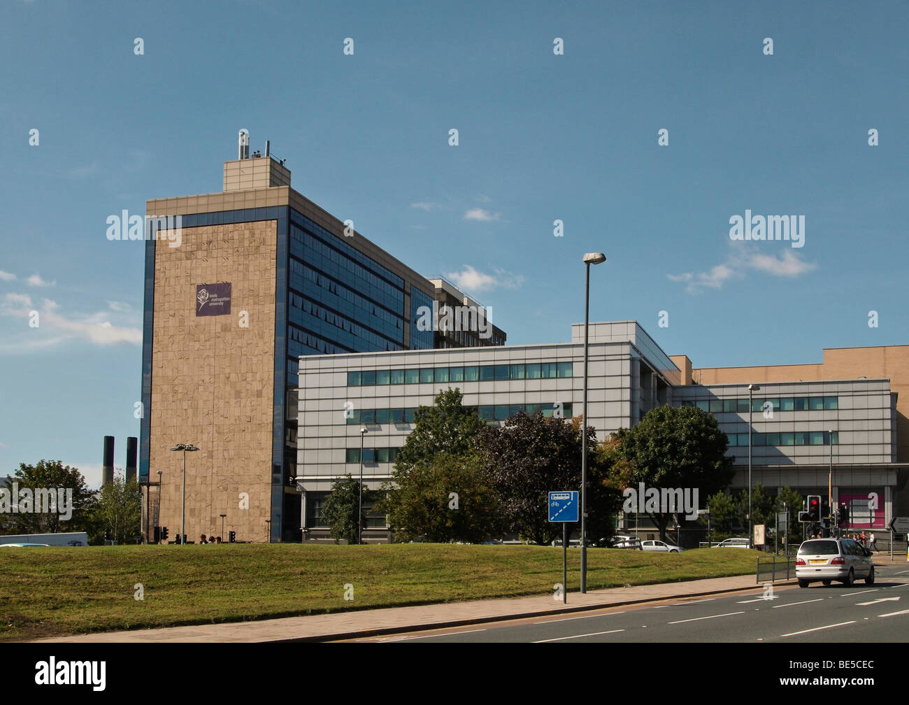 Leeds Metropolitan University seen from Woodhouse Lane West Yorkshire UK - Stock Image