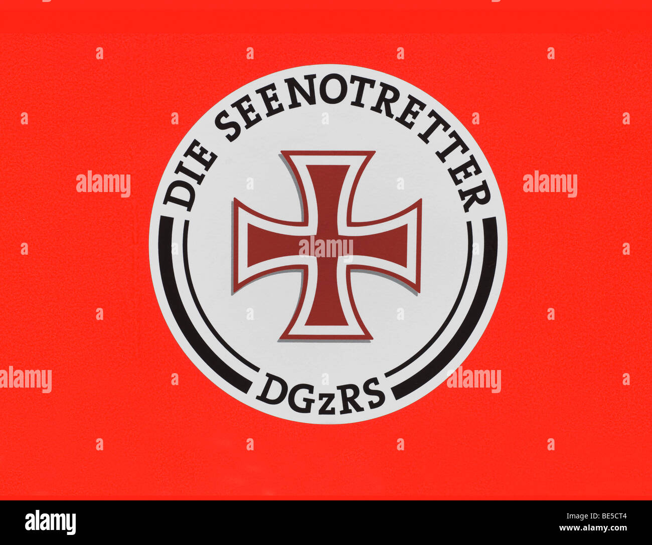 Emblem of the German Seenotretter DGzRS, German Society for the Rescue of Shipwrecked - Stock Image
