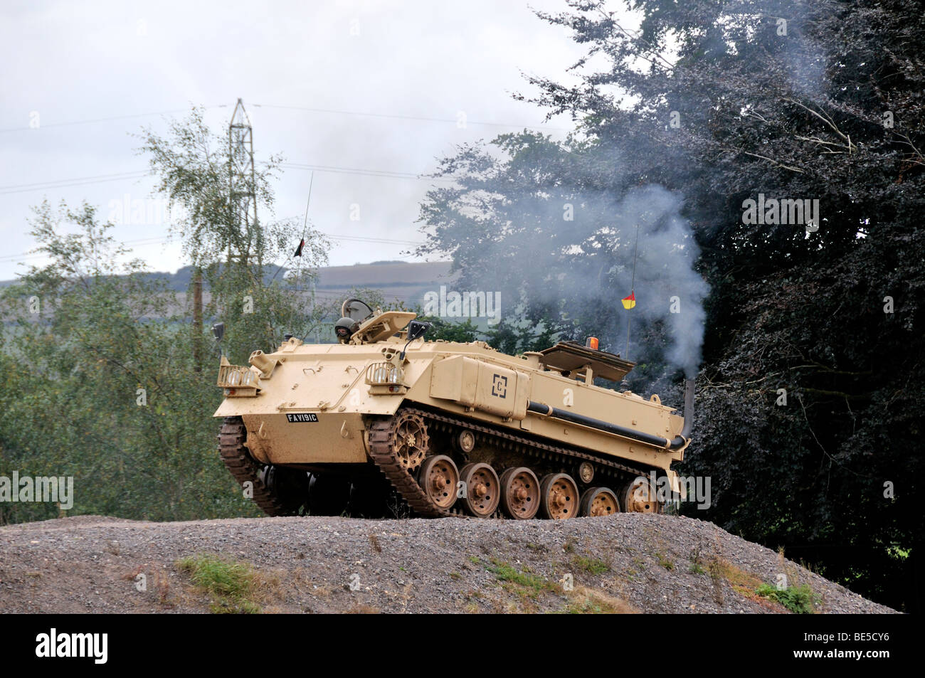 British FV432 armoured personnel carrier military vehicle - Stock Image