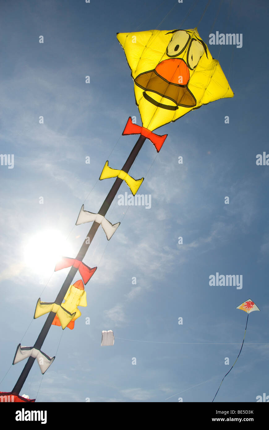 Large Kite with face, International Kite Festival, Bristol, UK Stock Photo