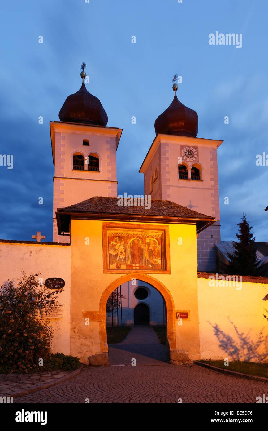 Church Christus Salvator und Allerheiligen, Christ Salvator and All Saints, Millstatt, Carinthia, Austria, Europe Stock Photo
