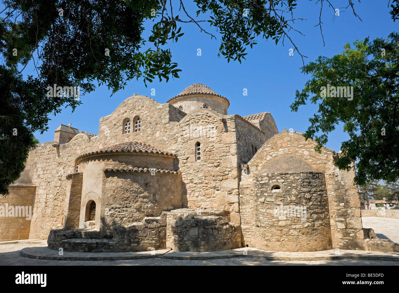 Church of Panagia Angeloktistos, built from the angels, UNESCO World Heritage Site, Kiti, Cyprus, Greek section, Stock Photo