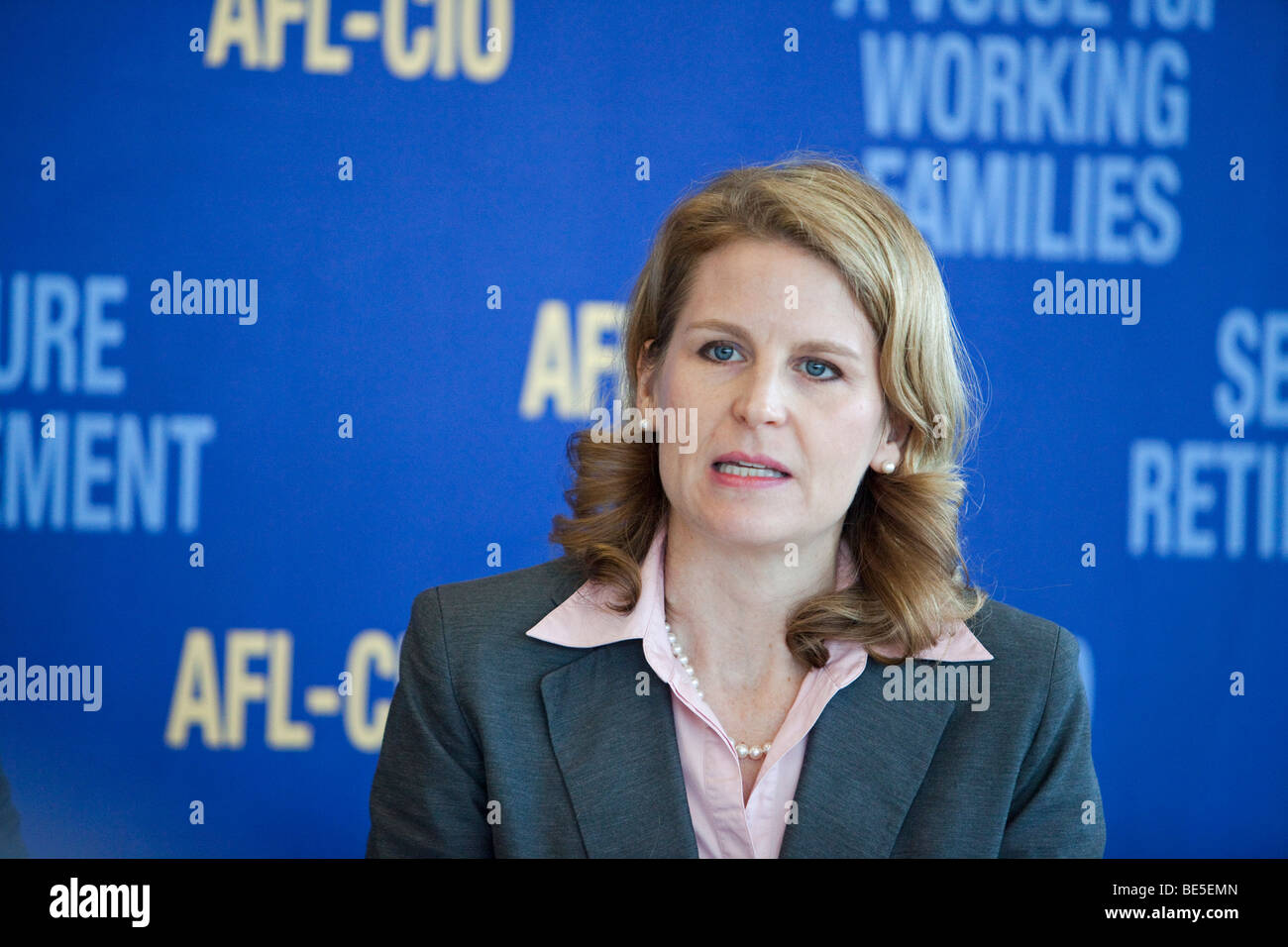Pittsburgh, Pennsylvania - AFL-CIO Secretary-Treasurer Liz Shuler. - Stock Image