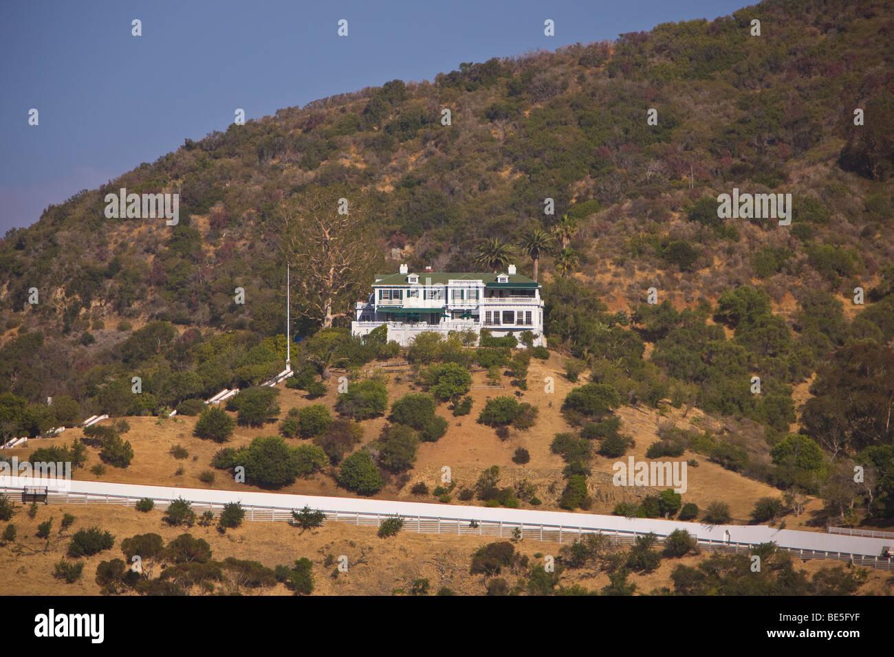 AVALON, CA, USA - Wrigley mansion, Santa Catalina Island - Stock Image