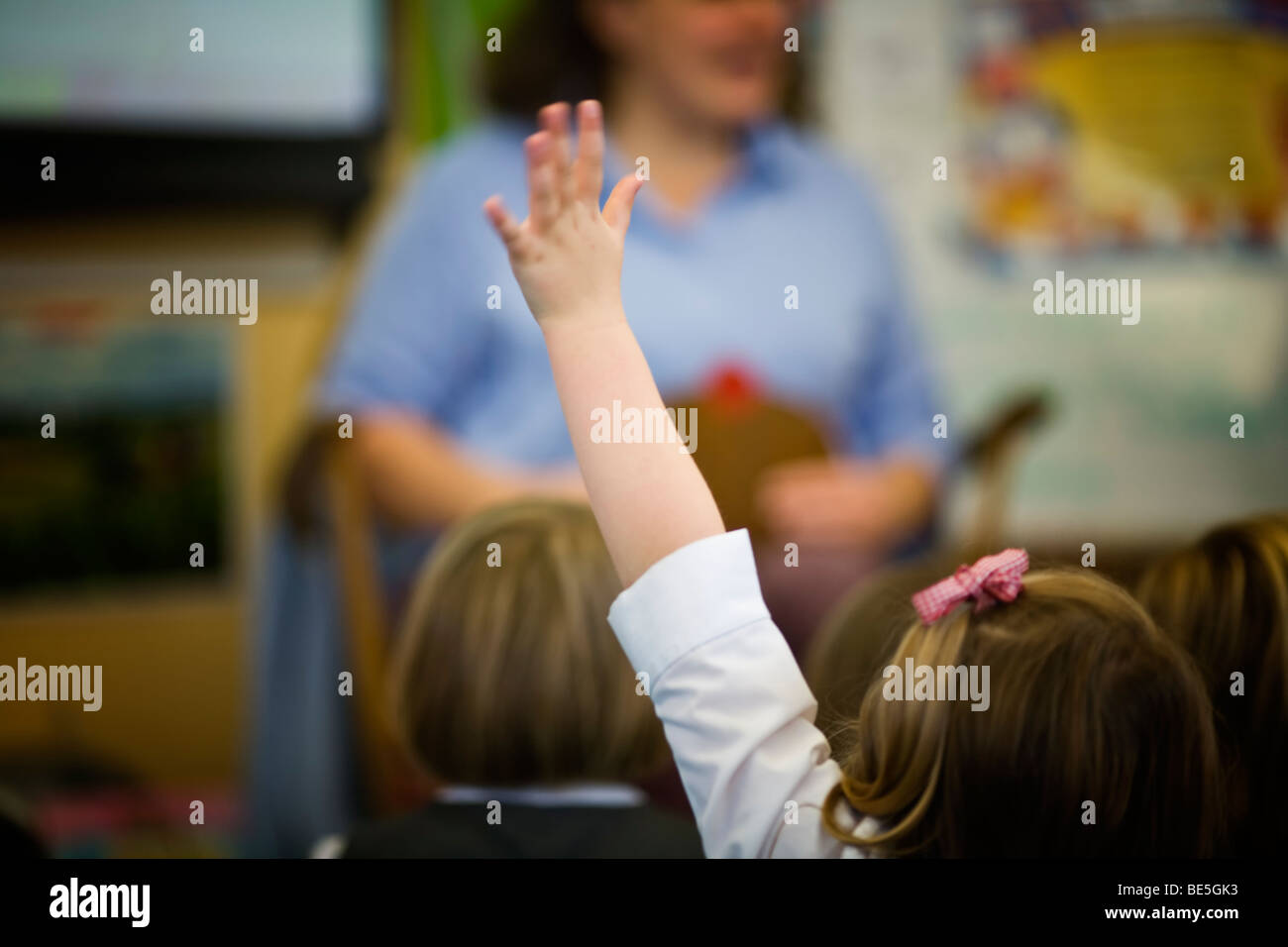 primary school  lesson - Stock Image