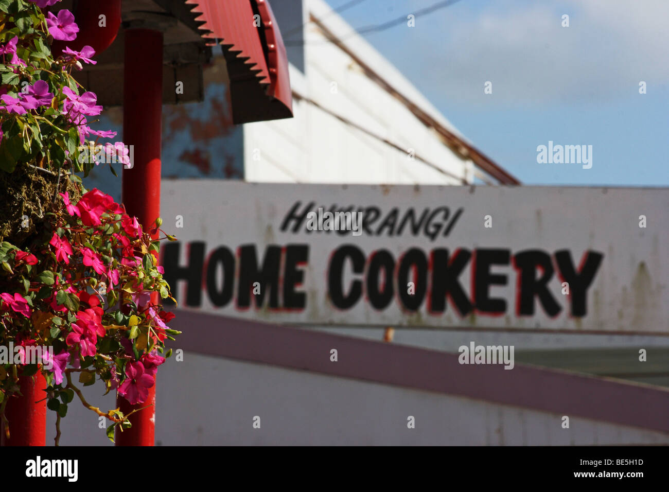 Sign of a Home Cookery in Hikurangi. New Zealand - Stock Image