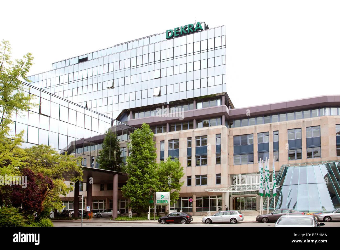 Headquarters of the Dekra AG in Stuttgart, Baden-Wuerttemberg, Germany, Europe - Stock Image