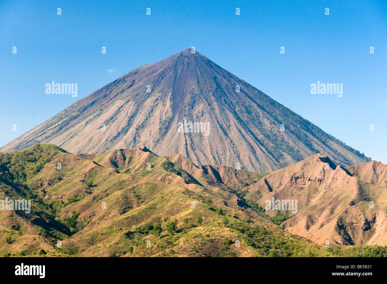 View of Inerie volcano, Flores, Indonesia Stock Photo