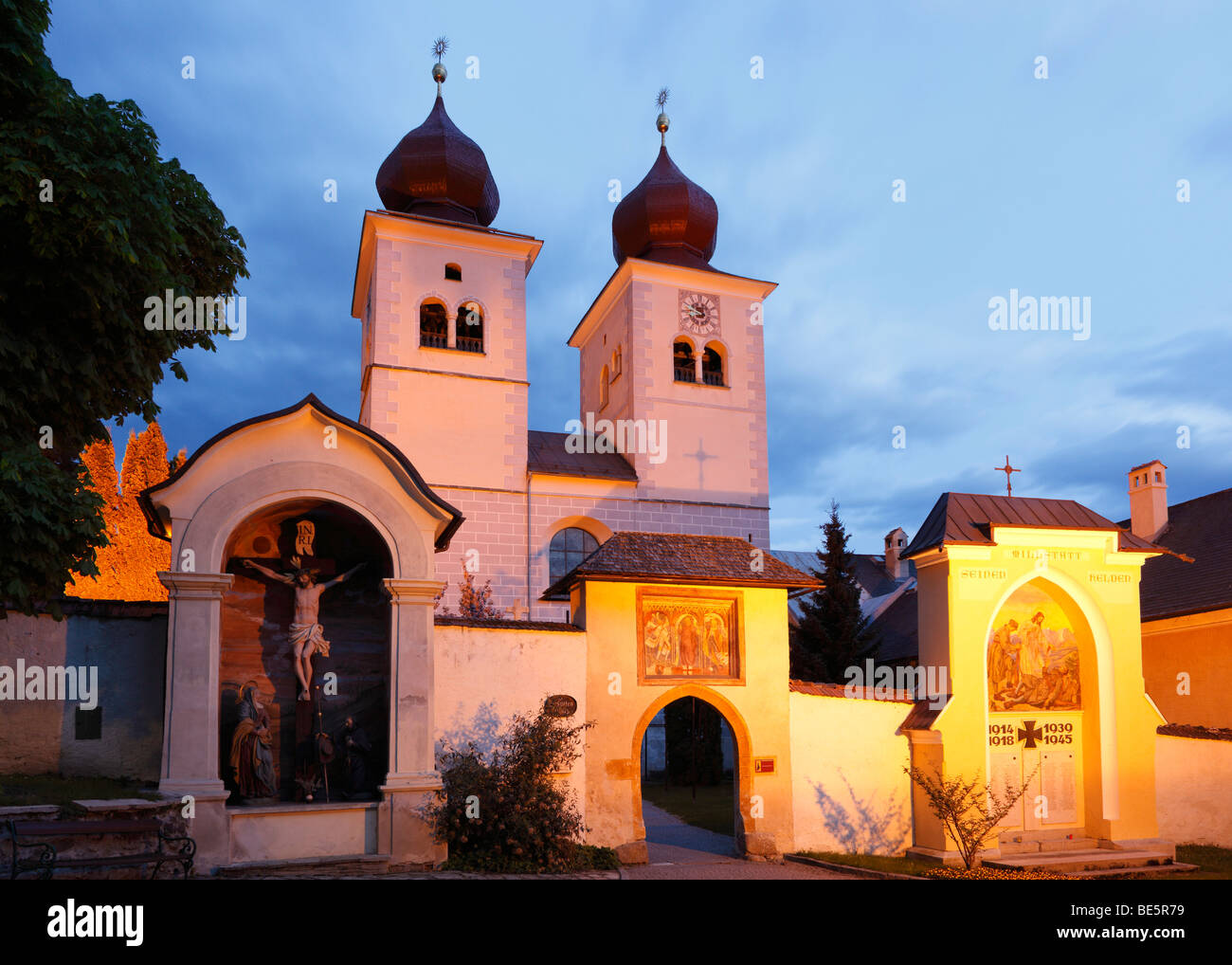 Church Christus Salvator und Allerheiligen, Christ Salvator and All Saints, Millstatt, Carinthia, Austria, Europe - Stock Image