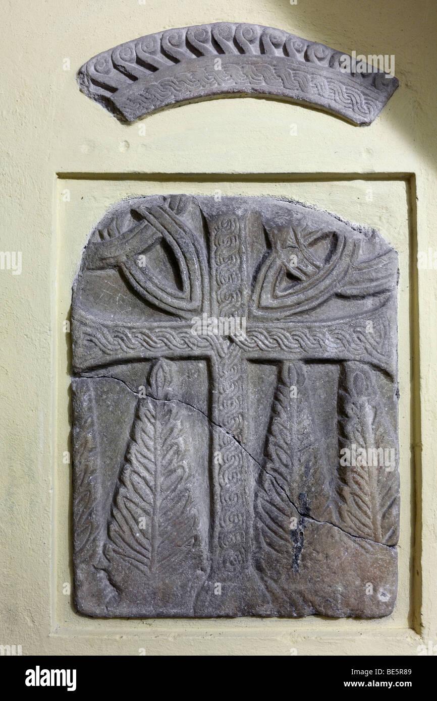 Relief from the Carolingian period around 780, Millstatt, Carinthia, Austria, Europe - Stock Image