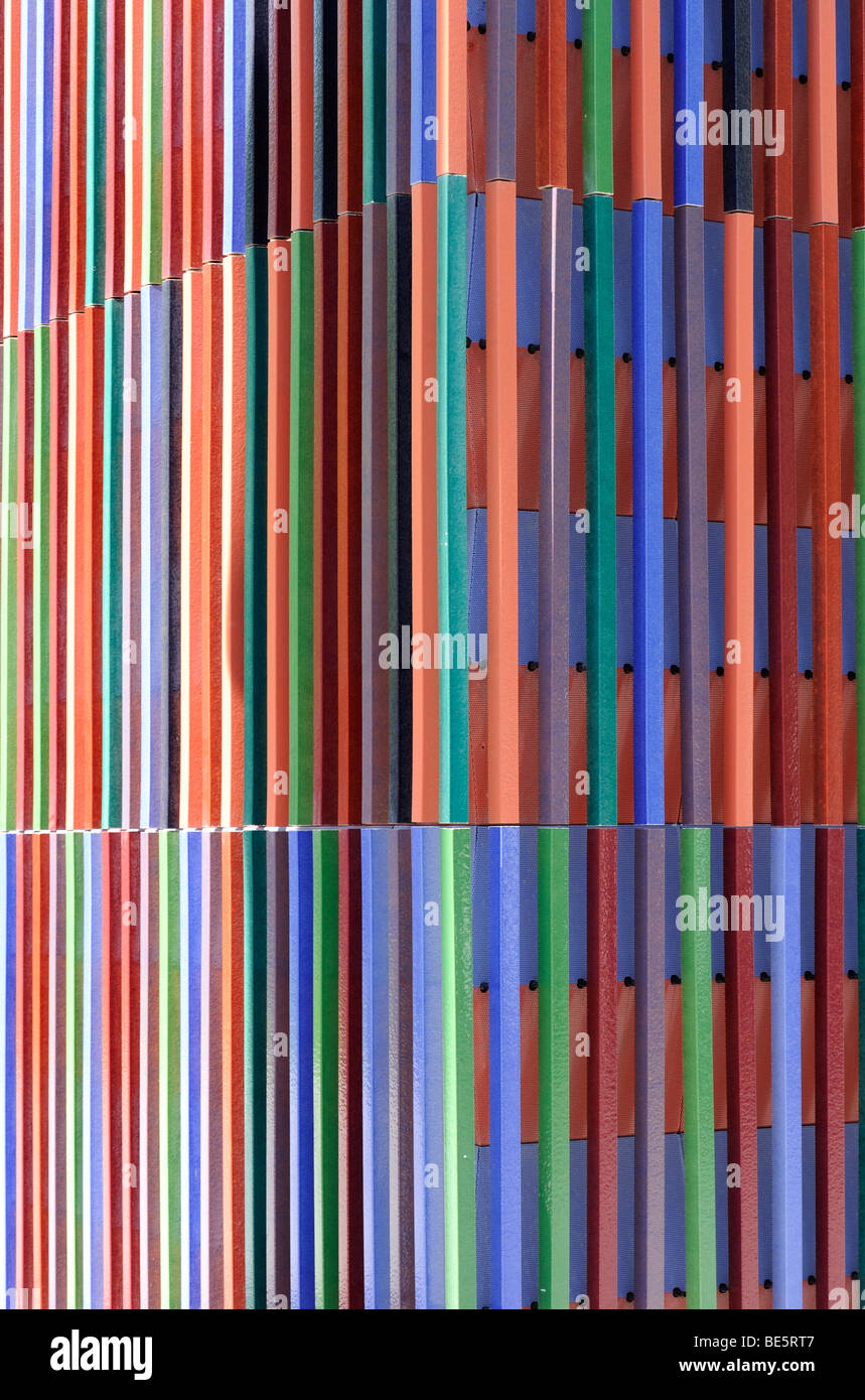 Facade of the Brandhorst Museum in Munich, detail, Upper Bavaria, Bavaria, Germany, Europe - Stock Image