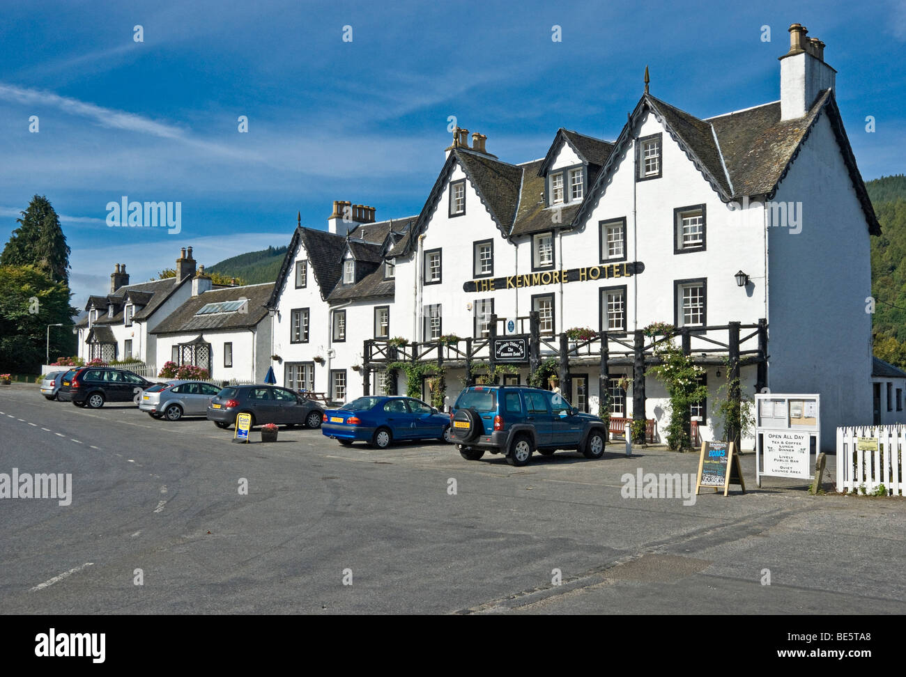 The Kenmore Hotel in Scottish village Kenmore on Loch Tay in Tayside Scotland - Stock Image
