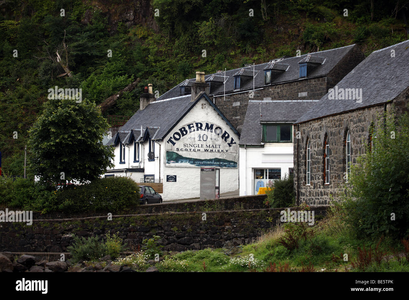 Tobermory Distillery on the Isle of Mull - Stock Image