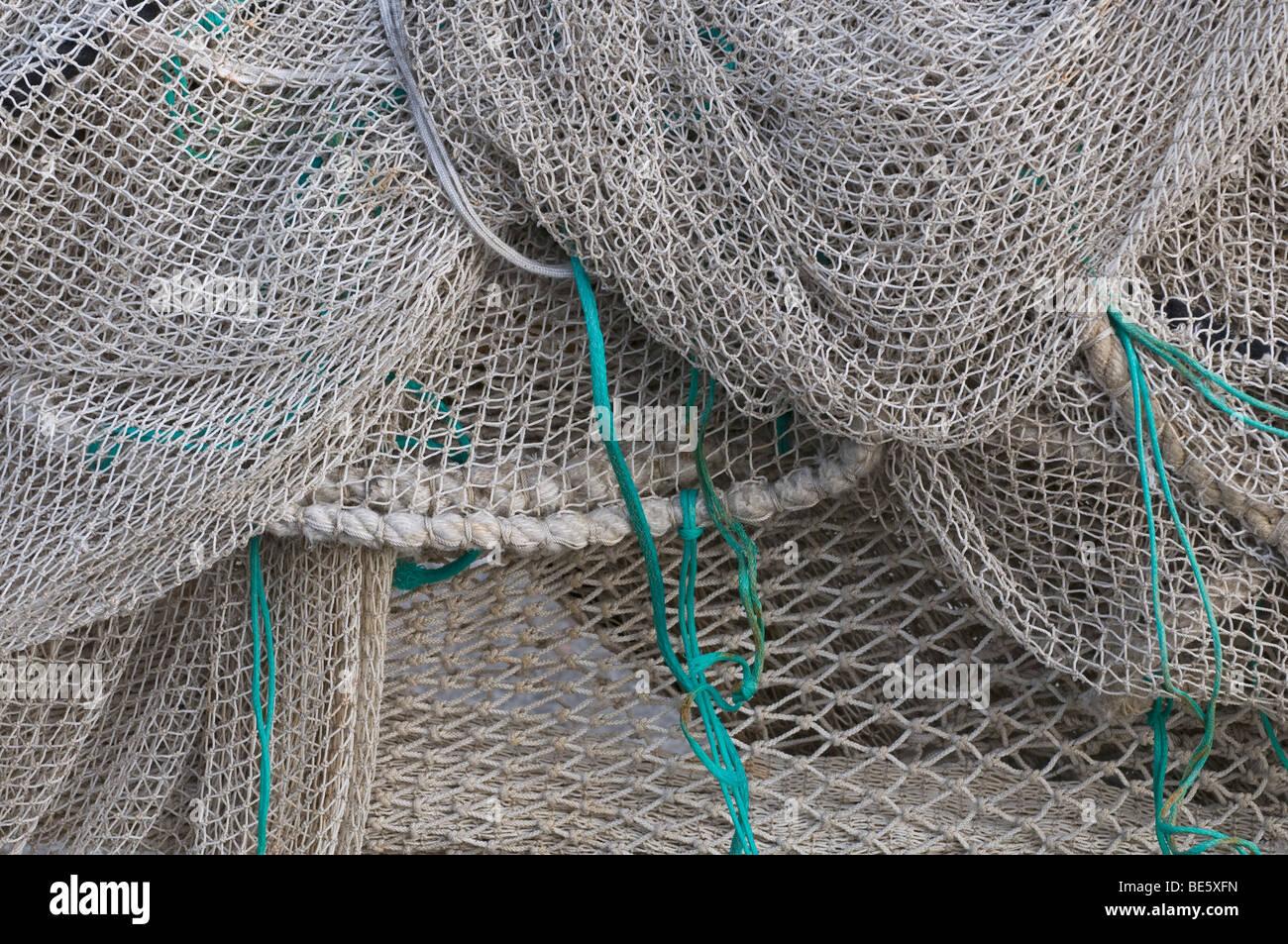 Fishing nets, full-frame - Stock Image