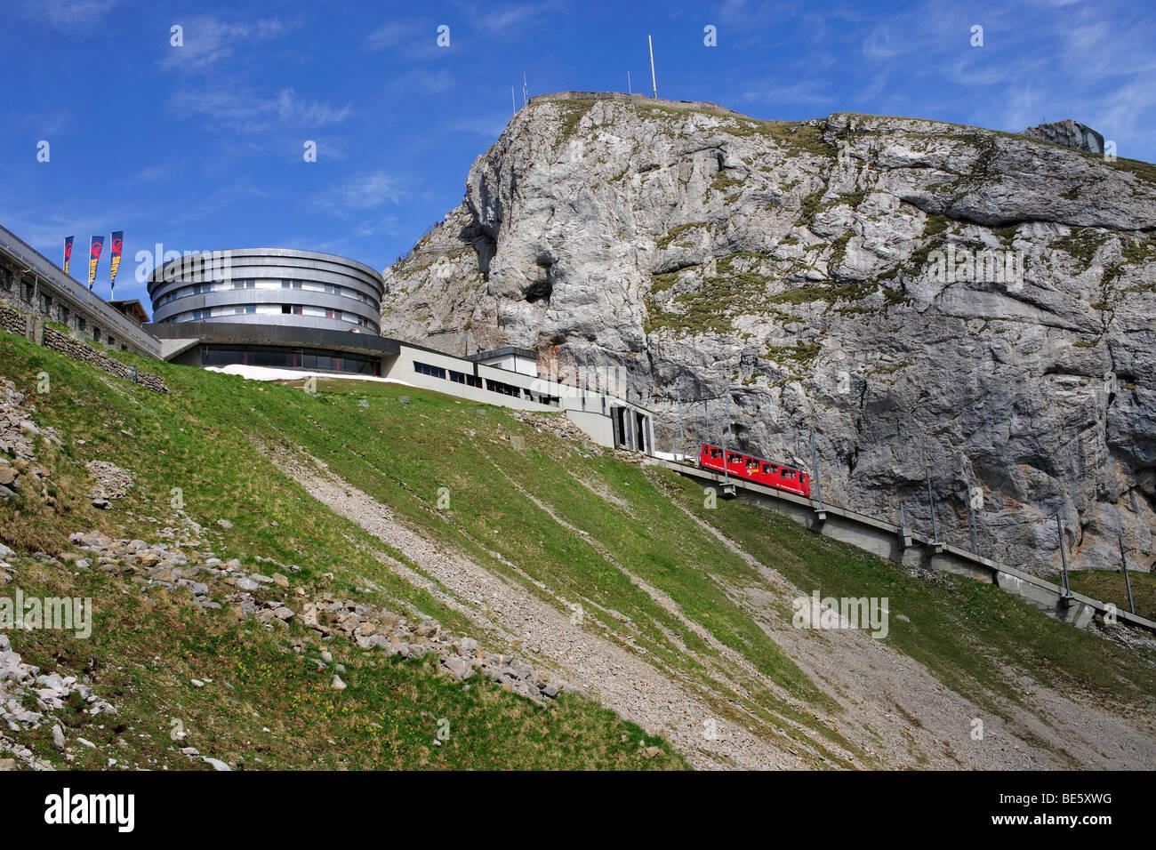 Hotel Bellevue on Mount Pilatus, popular tourist's destination, near Lucerne, Switzerland, Europe - Stock Image