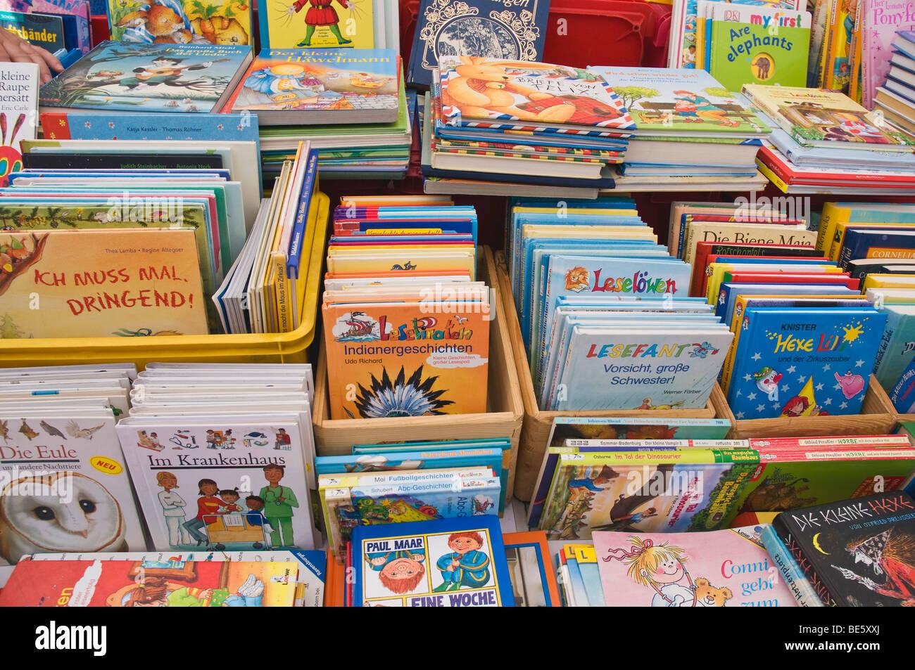 Children's books, book market Stock Photo