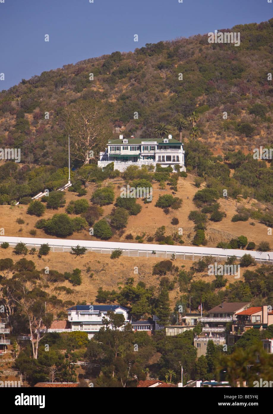 AVALON, CA, USA - The Inn at Mount Ada, formerly a Wrigley mansion, Santa Catalina Island - Stock Image