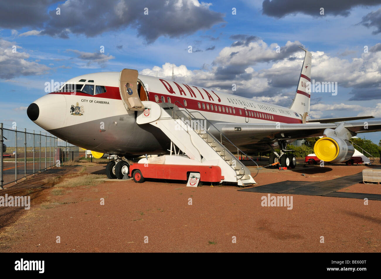 Boeing 707 at Qantas Founders Museum, Longreach, Queensland Outback, Australia - Stock Image