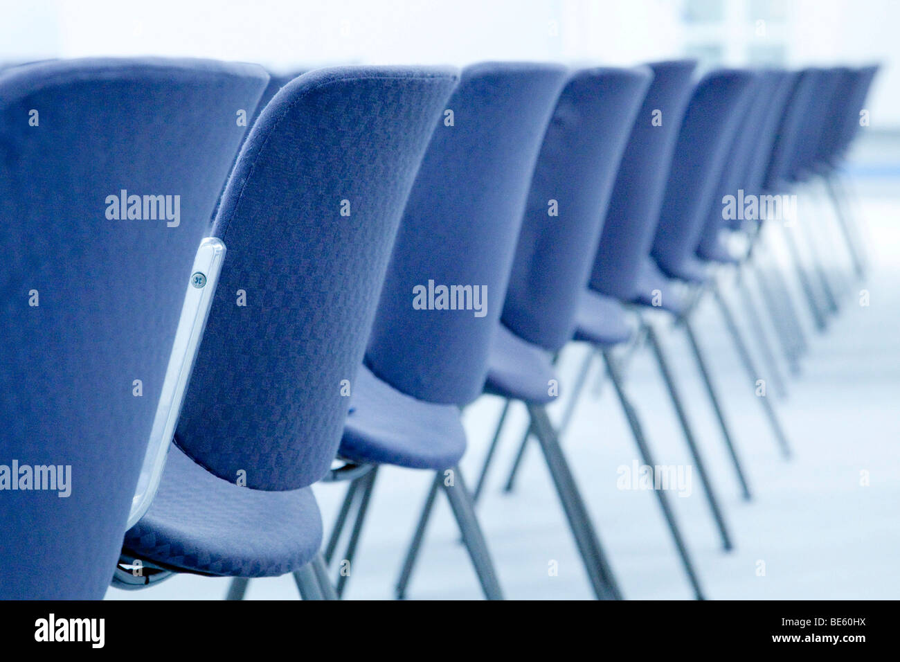 Row of chairs Stock Photo