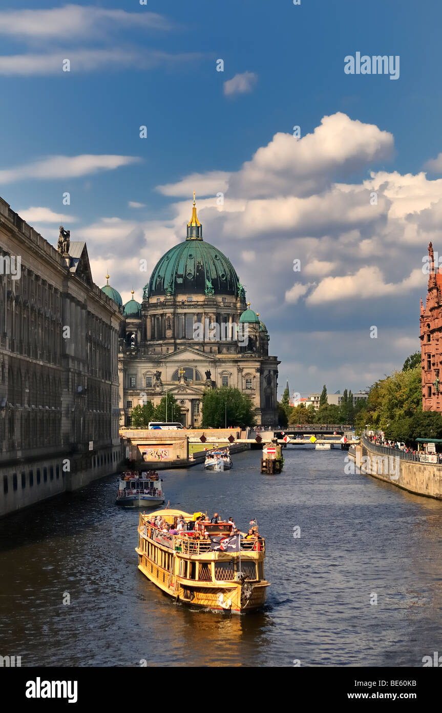 The Berlin Cathedral- Berliner Dom andthe river Spree,Berlin,Germany - Stock Image
