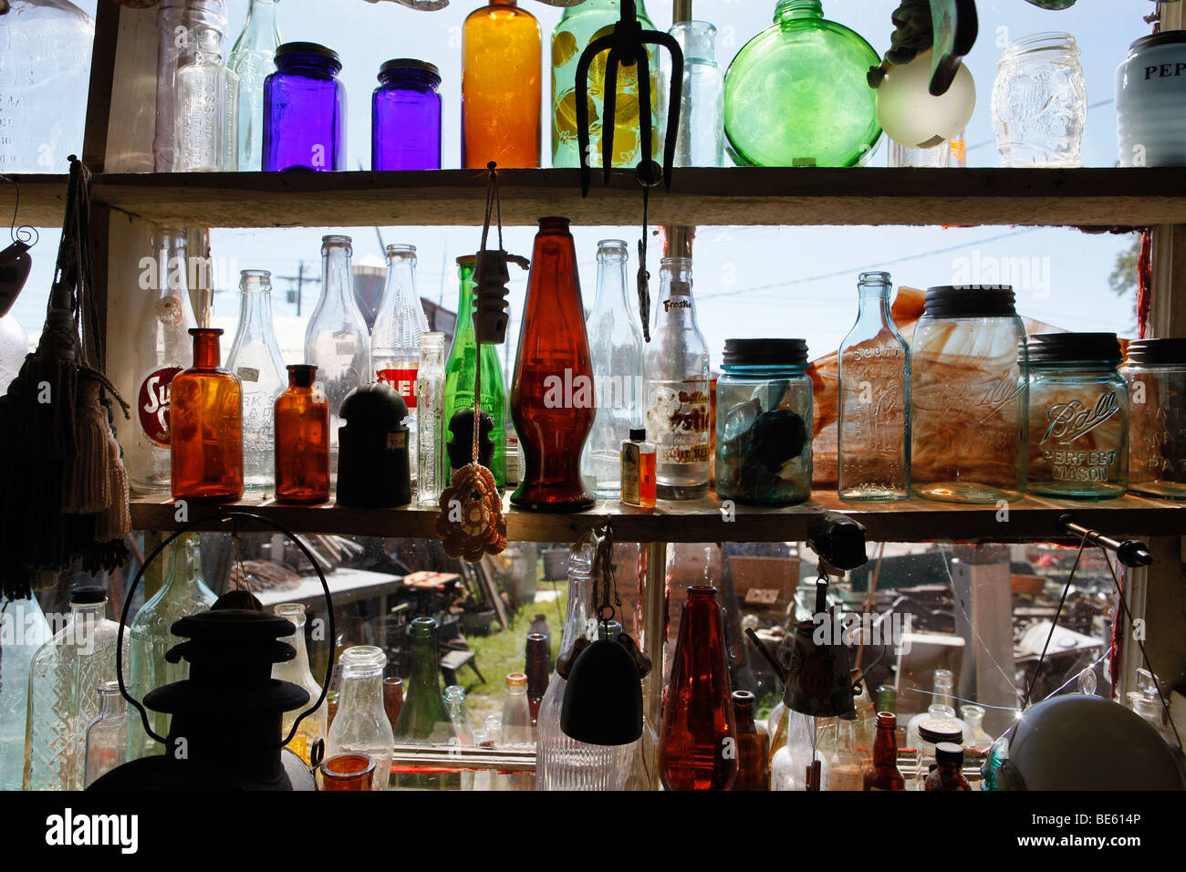 Items for sale, junk store, Searsport, Maine Stock Photo