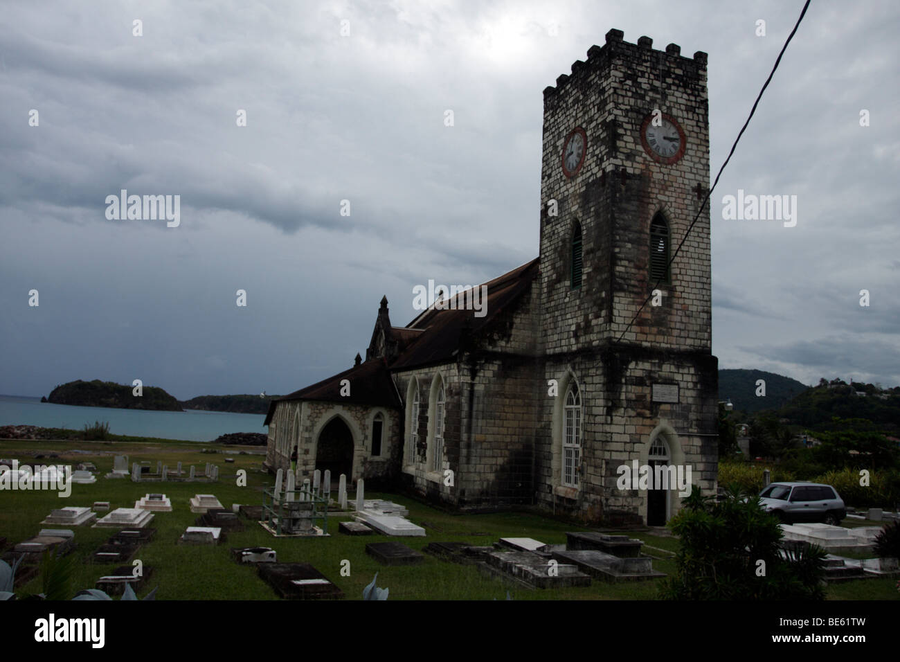 Diocese of Jamaica St. Mary's Parish Church - Stock Image