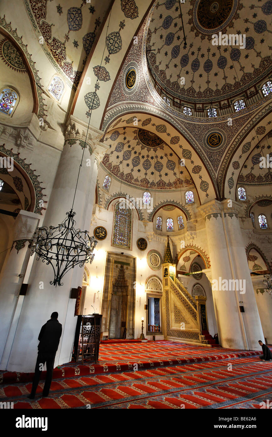 Iskele, Mirimah Sultan mosque, prayer hall, Ueskuedar, Istanbul, Turkey - Stock Image