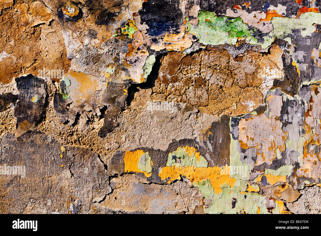 Weathered facade - Stock Image
