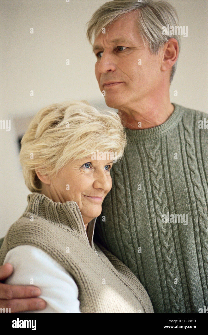 Senior couple, portrait - Stock Image