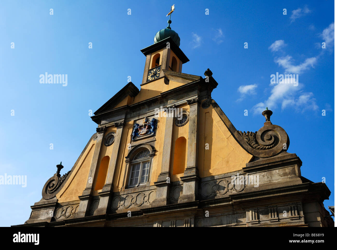 Baroque façade, 1742, of the the 'old store', Lueneburg, Lower Saxony, Germany, Europe - Stock Image