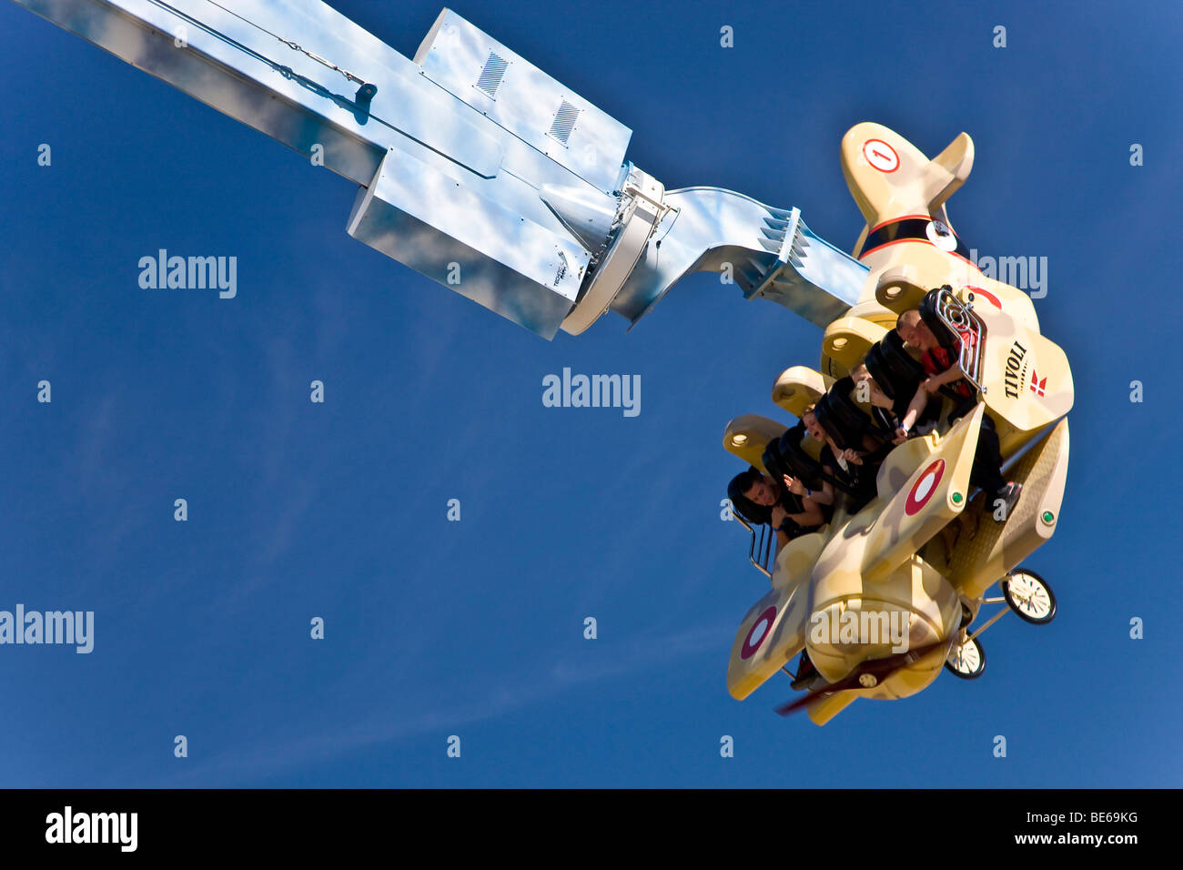 The Vertigo attraction in Tivoli, Copenhagen, Denmark, Europe - Stock Image
