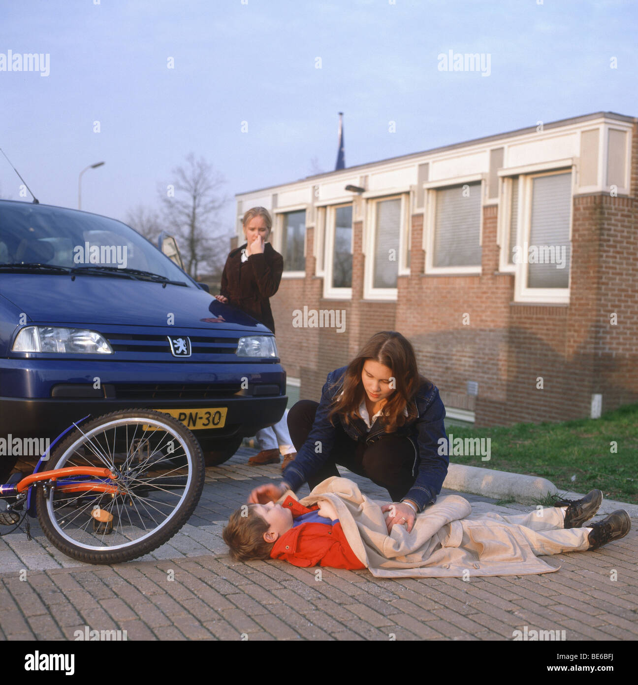 Boy Bicycle Accident Stock Photos & Boy Bicycle Accident