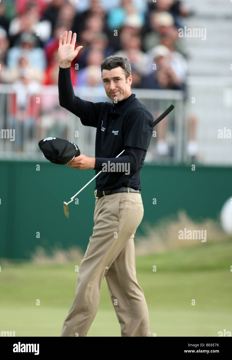 ROSS FISHER FINISHES HIS ROUND THE OPEN TURNBERRY 2009 TURNBERRY AYRSHIRE SCOTLAND 18 July 2009 - Stock Image