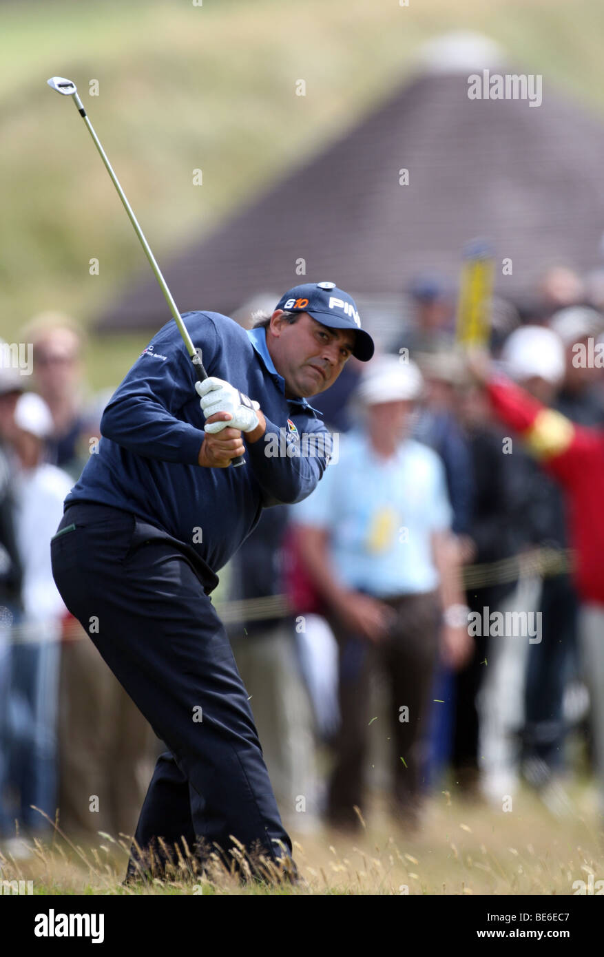 ANGEL CABRERA PLAYS LEFT HANDE THE OPEN TURNBERRY 2009 TURNBERRY AYRSHIRE SCOTLAND 18 July 2009 - Stock Image