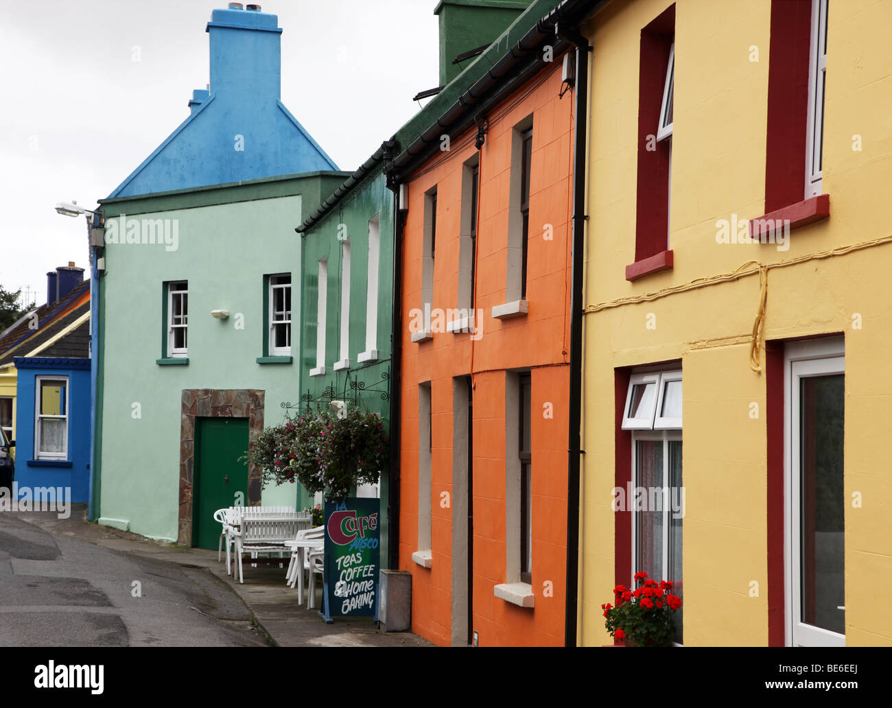 Main Street, Eyeries, Beara Peninsula, West Cork, Ireland - Stock Image