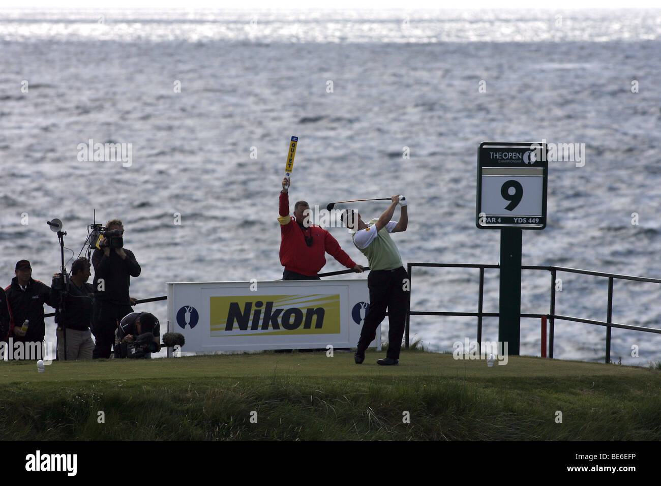 LEE WESTWOOD DRIVES THE 9TH THE OPEN TURNBERRY 2009 TURNBERRY AYRSHIRE SCOTLAND 19 July 2009 - Stock Image