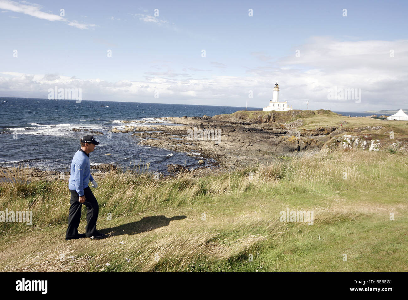 TOM WATSON ON THE 9TH THE OPEN TURNBERRY 2009 TURNBERRY AYRSHIRE SCOTLAND 19 July 2009 - Stock Image