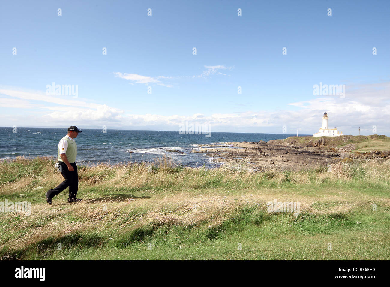 LEE WESTWOOD ON THE 9TH THE OPEN TURNBERRY 2009 TURNBERRY AYRSHIRE SCOTLAND 19 July 2009 - Stock Image