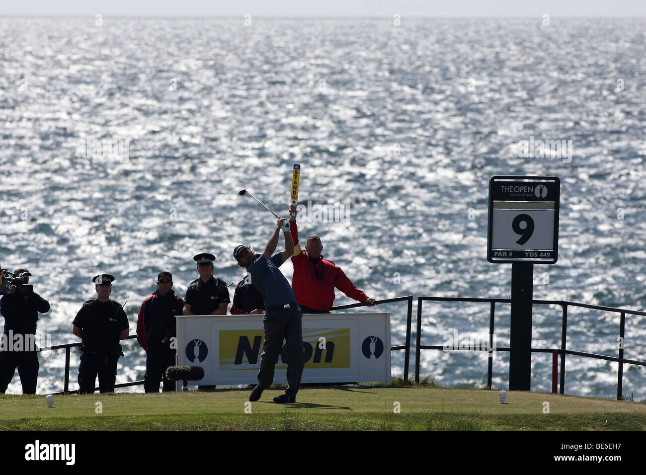 MATTHEW GOGGIN DRIVES HE 9TH THE OPEN TURNBERRY 2009 TURNBERRY AYRSHIRE SCOTLAND 19 July 2009 - Stock Image