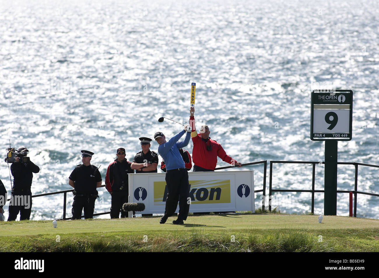 TOM WATSON DRIVES THE 9TH THE OPEN TURNBERRY 2009 TURNBERRY AYRSHIRE SCOTLAND 19 July 2009 - Stock Image