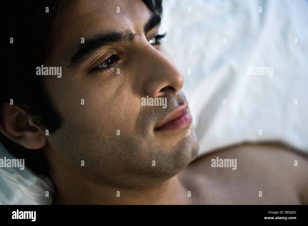 Man thinking Stock Photo