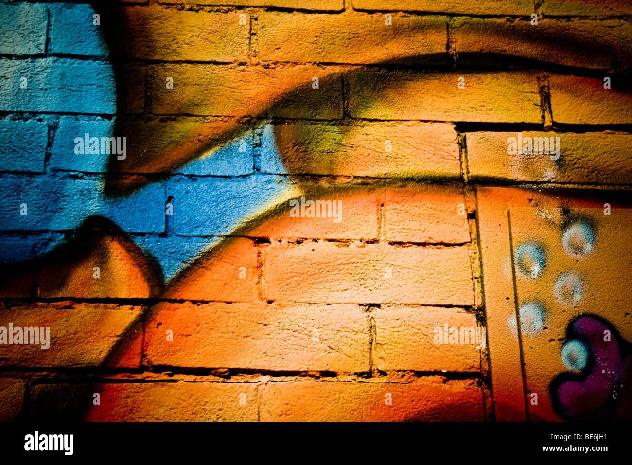 Graffiti of the Cowley Road,Oxford - Stock Image