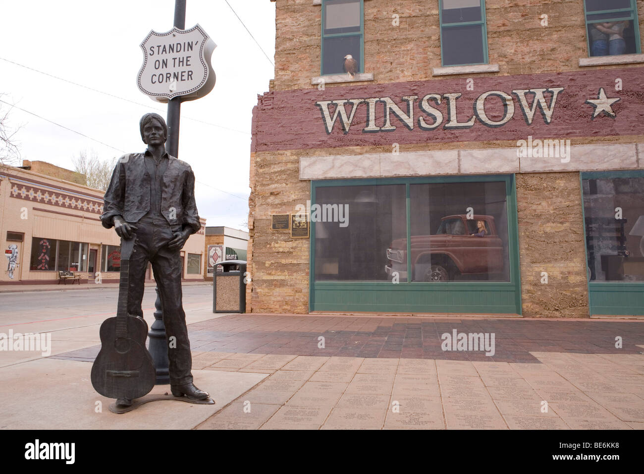 standing on the corner in winslow arizona stock photo 25962700 alamy. Black Bedroom Furniture Sets. Home Design Ideas