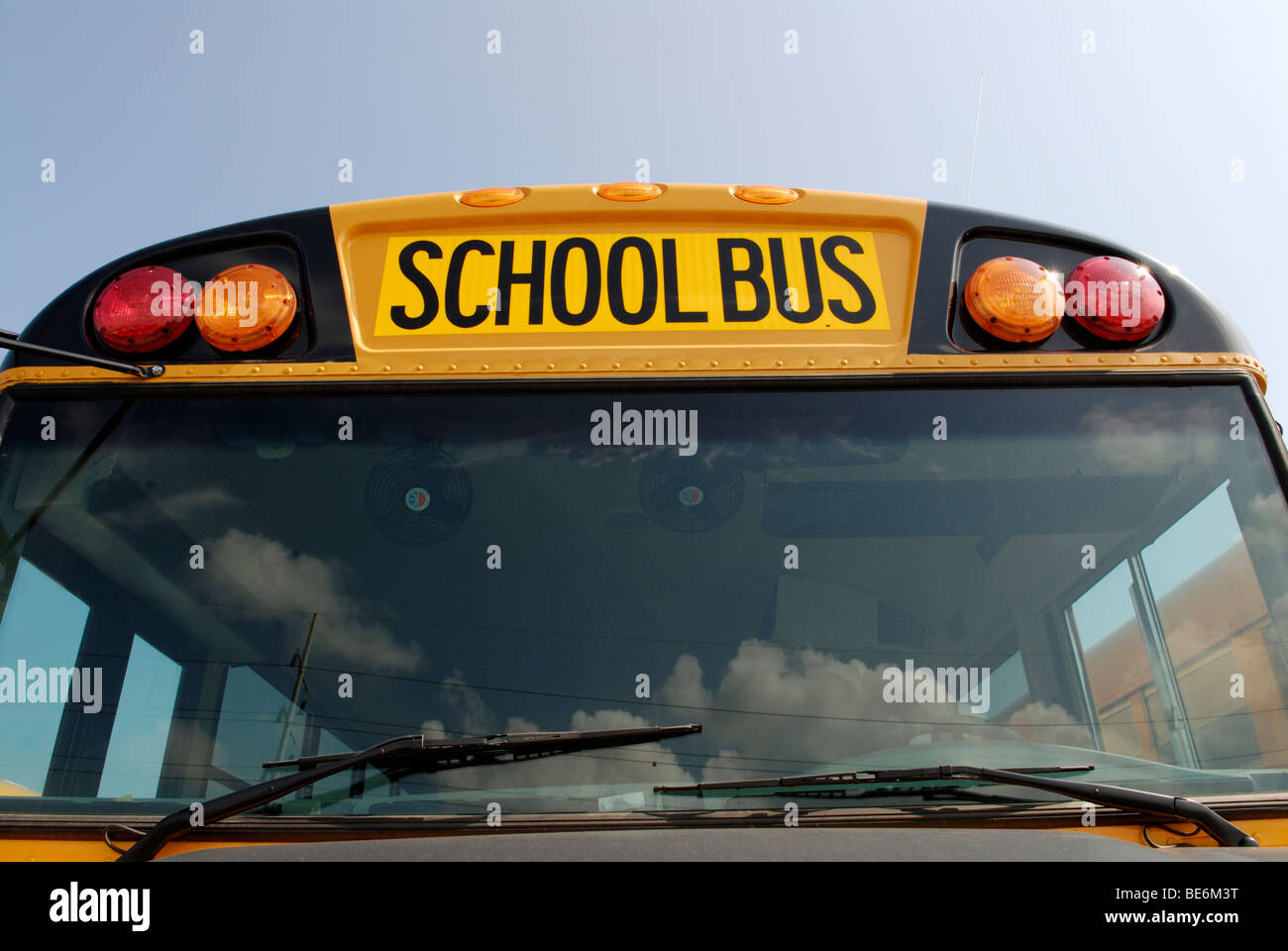 School bus front view - Stock Image