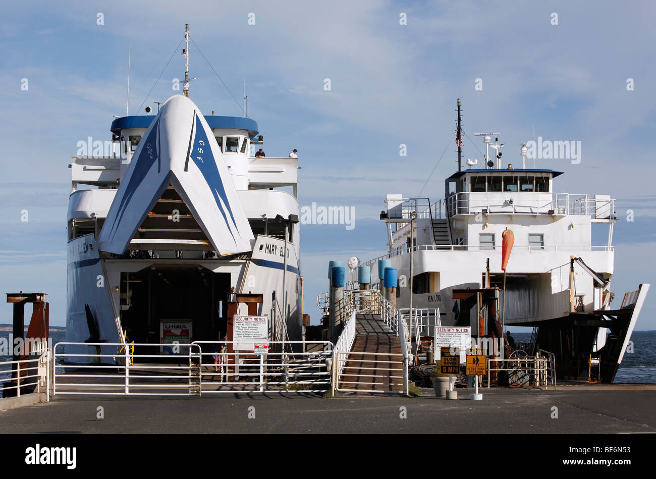 Orient Point car ferry terminal - Stock Image