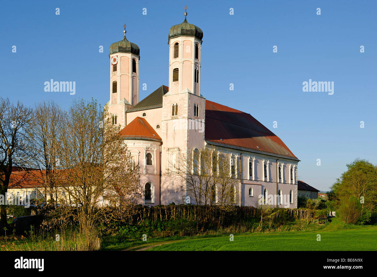 Former church of the Benedictine abbey Saint Peter, Oberaltaich, Lower Bavaria, Bavaria, Germany, Europe Stock Photo