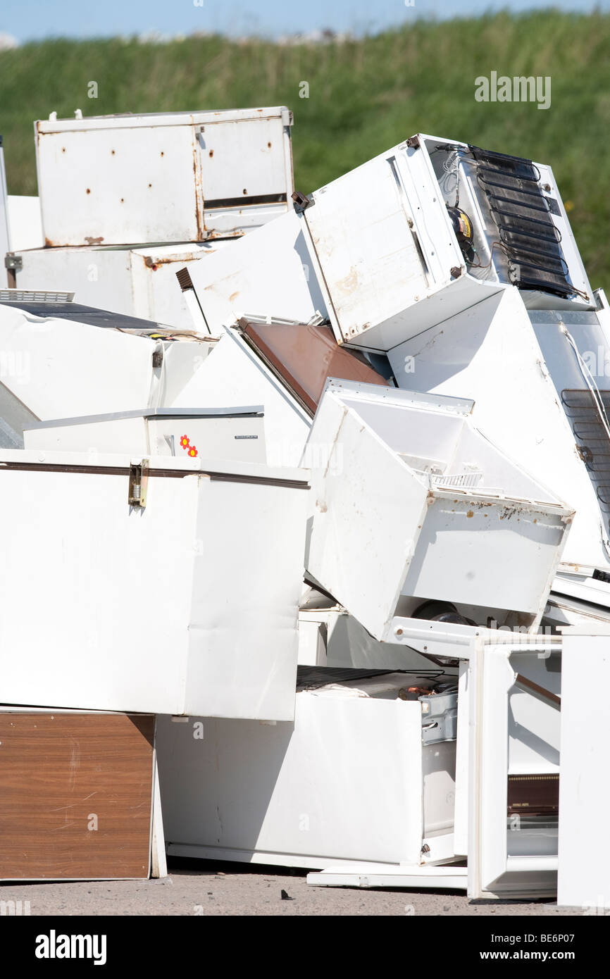 Home appliances going to recycling - Stock Image